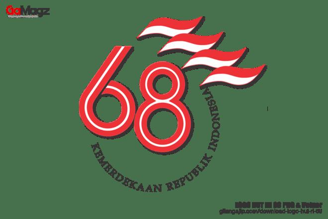 download logo hut ri 68 png vektor