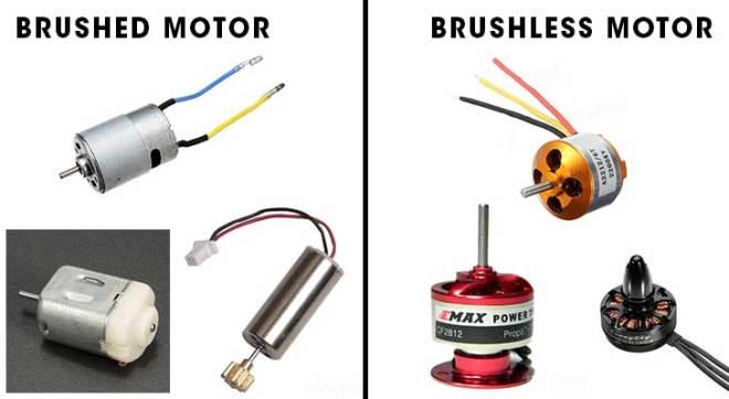 Perbedaan Brushed dan brushless motor