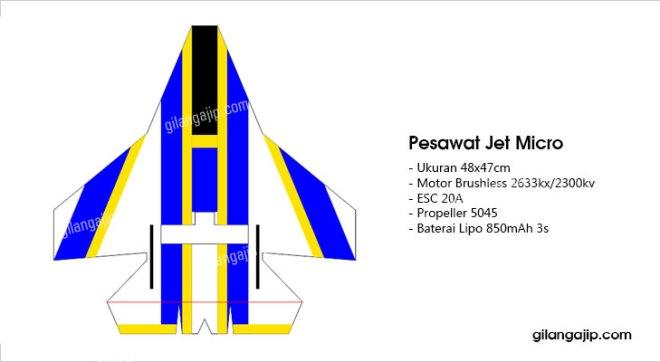 Desain Pesawat RC Jet Micro