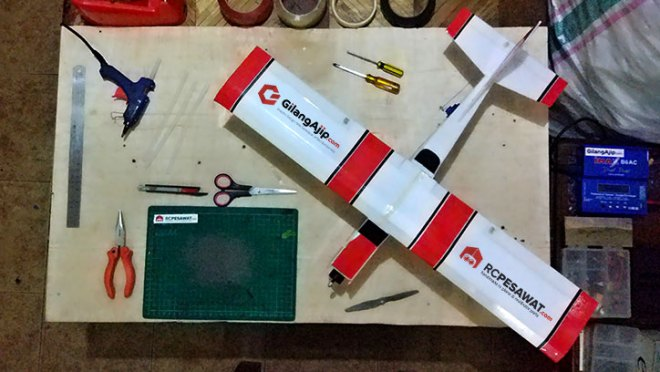 Tutorial Membuat Pesawat RC Simple Cessna WS 75cm