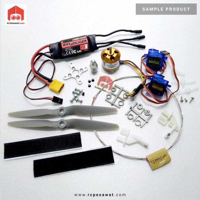 Paket Komponen Elektrik Pesawat RC Jet Sederhana