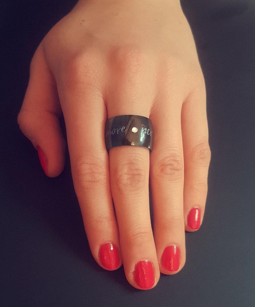 Gilardy Ring Edelstahl silber mit LiebesGravur und