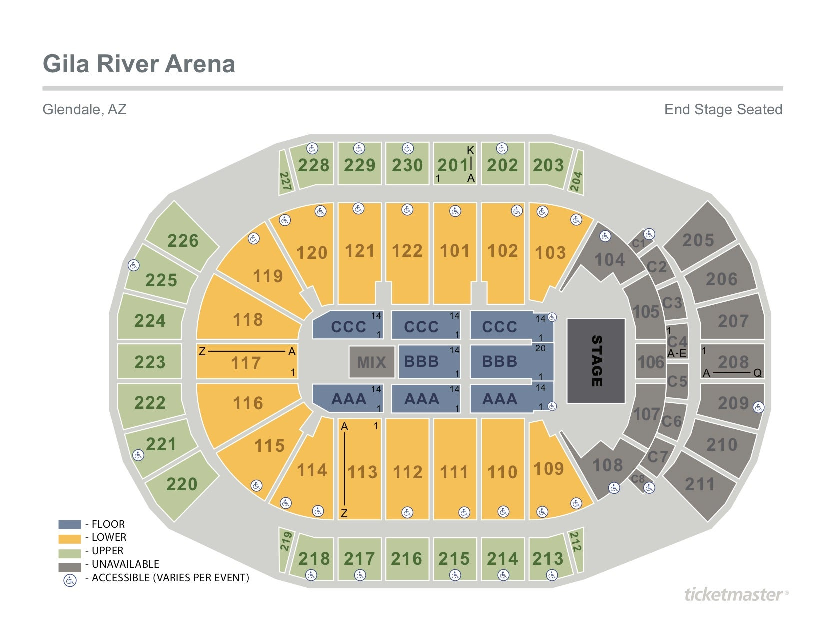arena stage diagram 6 pin cdi unit wiring gila river seating chart cabinets matttroy