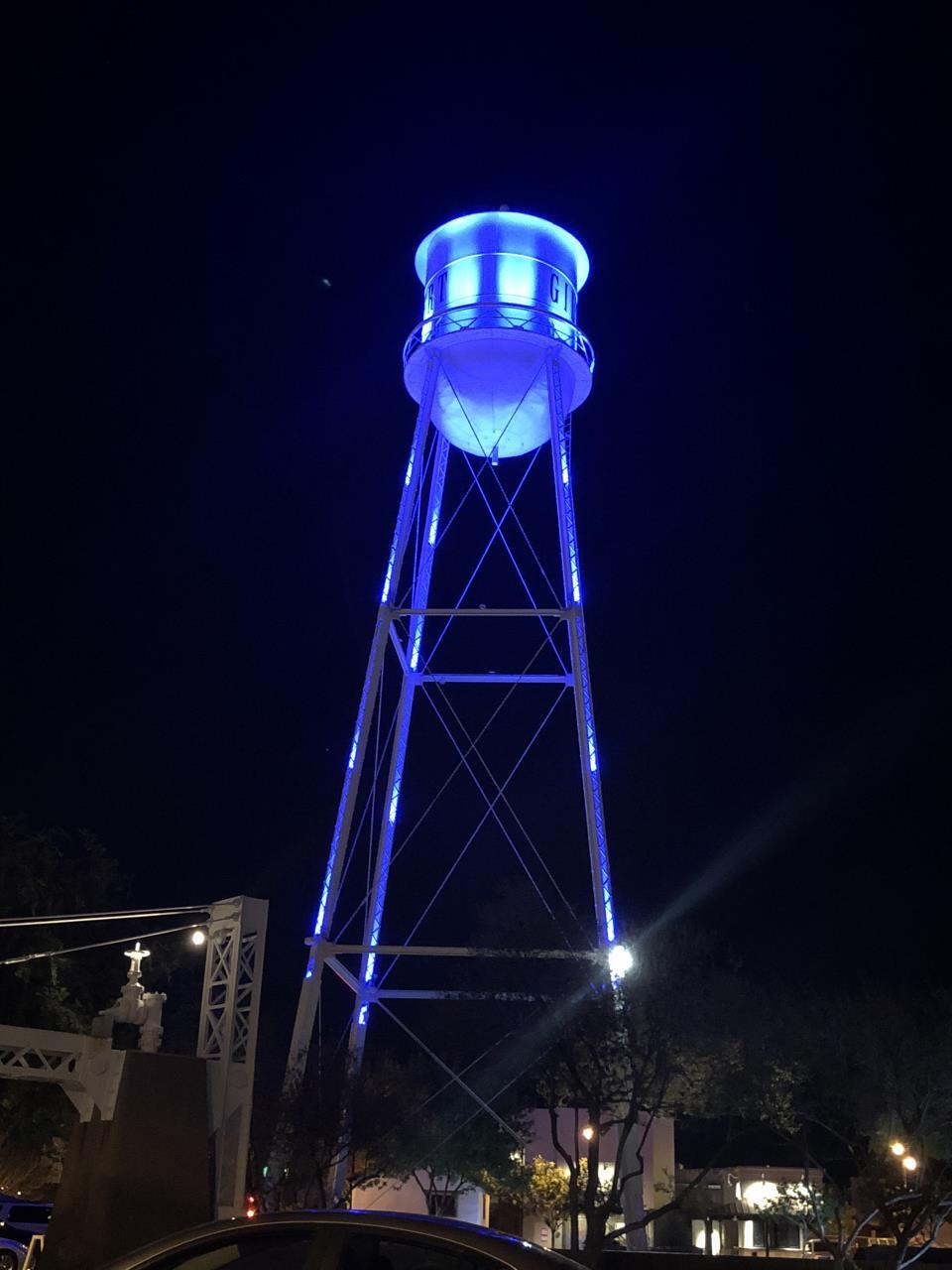 gilbert water tower lighting town of