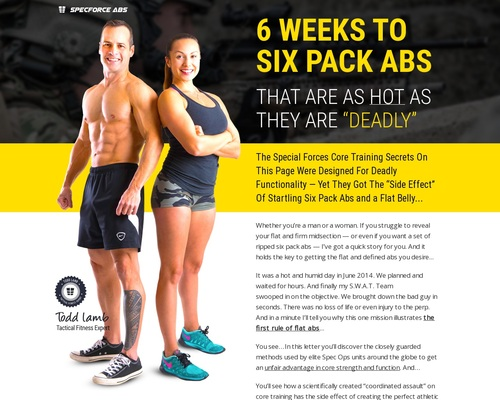 """SpecForce Abs – 6 WEEKS TO SIX PACK ABS THAT ARE AS HOT AS THEY ARE """"DEADLY"""""""