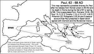 Possible route of Paul's 4th missionary journey