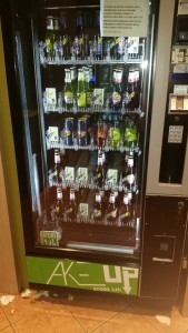 The booze vending machine, people don't believe me, and it's cheap!