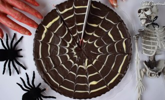 Halloween Chocolate Tart