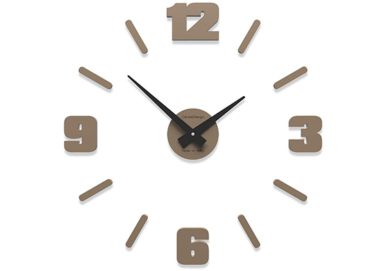 CalleaDesign Michelangelo Customisable Small Wall Clock, 50 cm Caffelatte