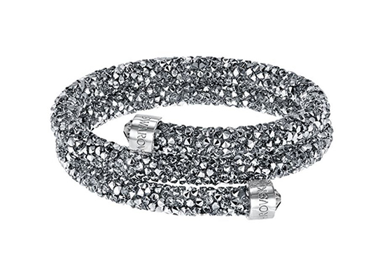 Swarovski Crystaldust Grey Crystal Double Bangle