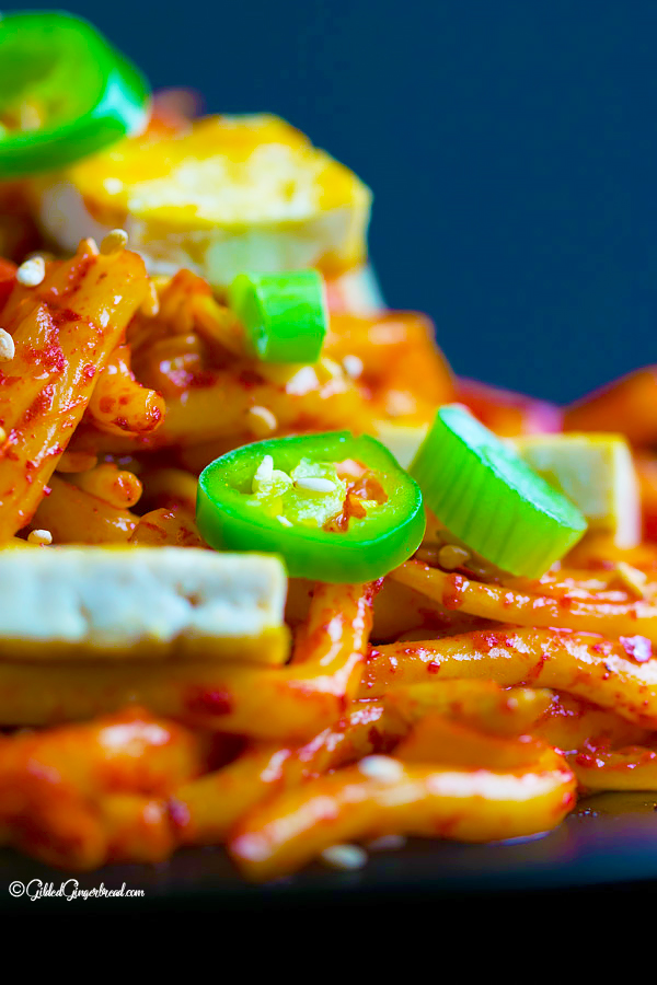 Vegan Stir Fried Kimchi Udon Noodles Gilded Gingerbread