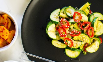 Stir Fried Courgette Zucchini Banchan Korean Gilded Gingerbread Vegan Vegetarian