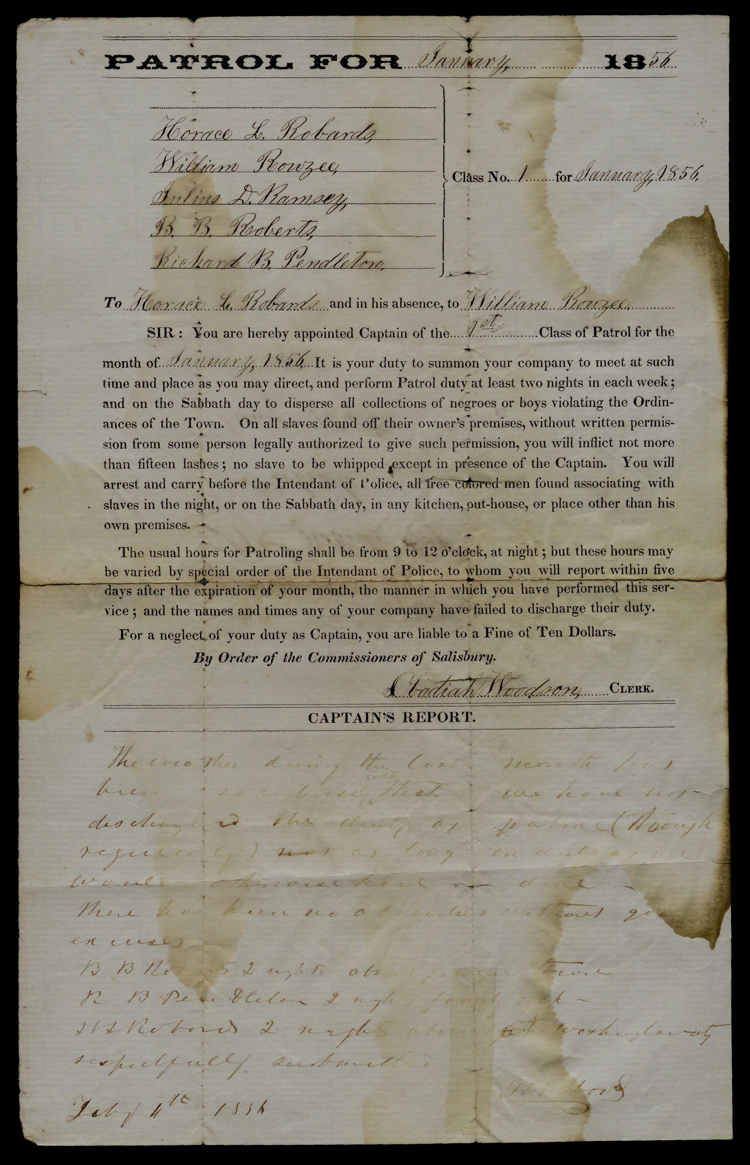 Slave Patrol Contract