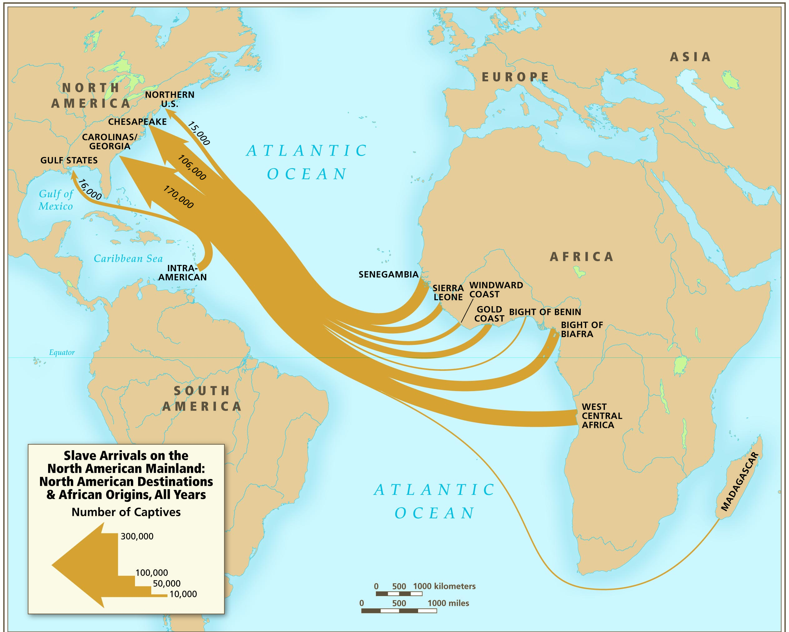Atlantic Slave Trade Map Worksheet