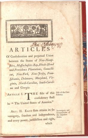 The Articles of Confederation. 1777 | Gilder Lehrman Institute of American History