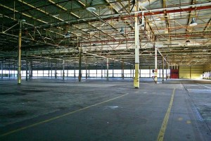Empty Ford assembly plant.