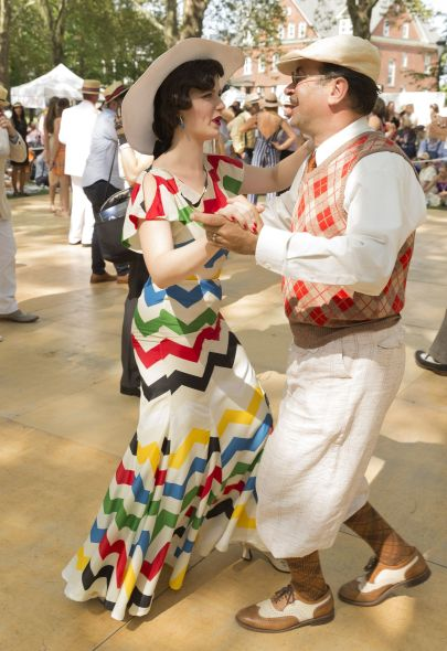 Two stepping back in time at the Jazz Lawn Party on Governors Island (Photo: Lev Radin)