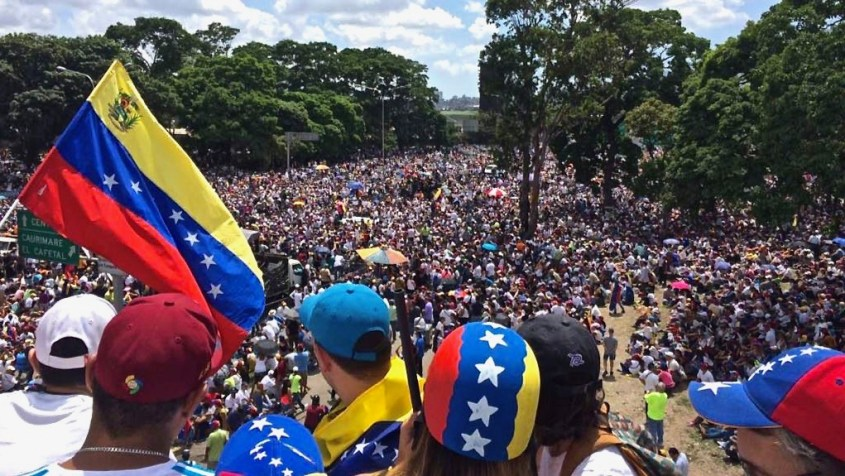 Millions of Venezuelans marching on 20 May during the We Are Millions march.