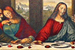 Conspiracy theorists point to Mary's possible inclusion at the Last Supper.