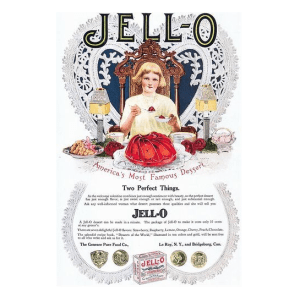 A vintage Jell-O ad from the early 1900's