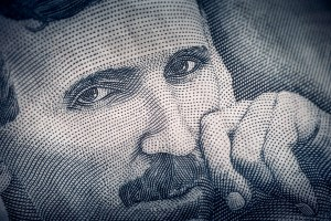 Tesla, as depicted on a bank note
