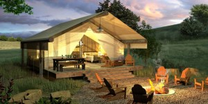 Glamping is a comfortable way to commune with nature.