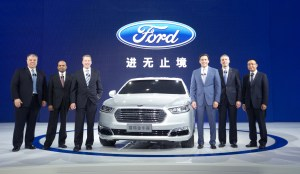 Happier days when Ford first introduced the Taurus to China.