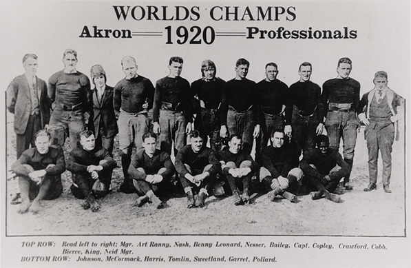 """The league may have been Ohio only, but the Akron Pros were """"world"""" champs, nonetheless."""