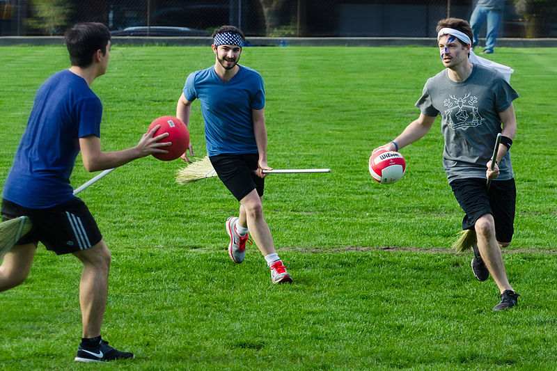 One of the most iconic sports in all of pop culture, quidditch is played with seven players: one keeper, one seeker, two beaters, and three chasers.