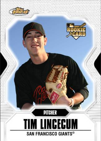 This Tim Lincecum rookie card would be a great garage sale find.