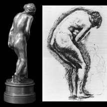 Dessin de Camille Claudel, publié début 1886 dans le journal L'Art