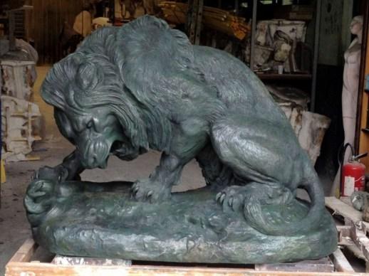 Lion au serpent monument de Barye fonderie (mécénat Chi Mei Foundation)