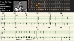 Django Reinhardt - Stephen's Blues - Guitar transcription - Gilles Rea