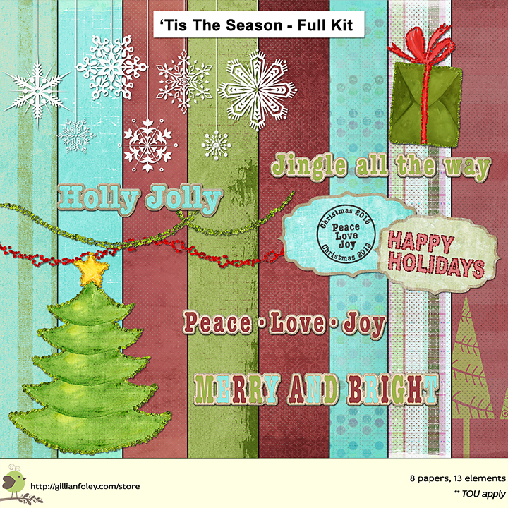 'Tis The Season Paper Pack Freebie