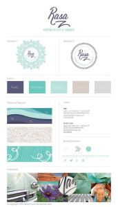 Brand Style Guide Feminine Cool Blue