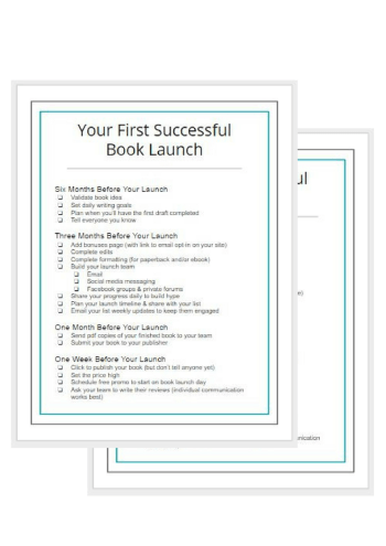 book launch checklist - Gillian Perkins
