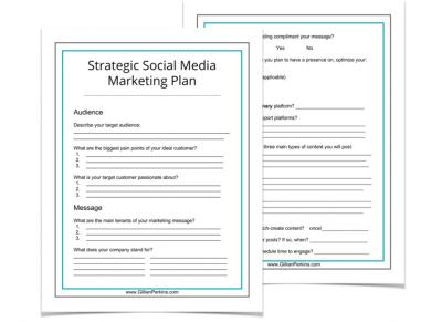 Social Media Marketing Strategy Worksheet