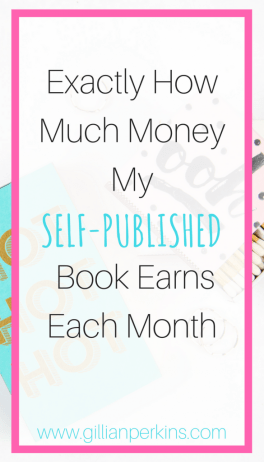 Exactly how much money my self-published book earns each month