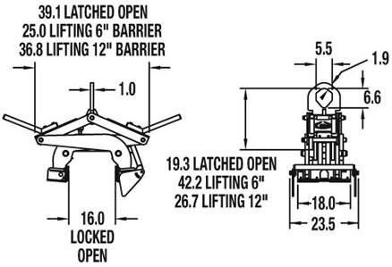 Heavy Duty Barrier Grab, Lifting Beam Grab, Beam Lifting