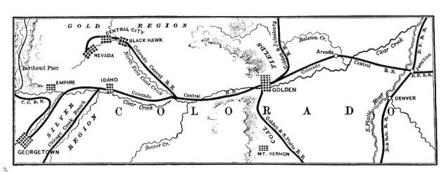 Colorado Central Railroad Map