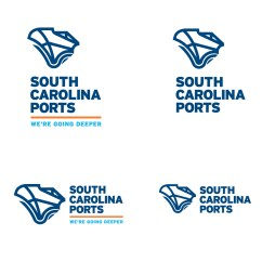 Blue Chair Jam Memory Foam Pad South Carolina Ports Authority New Identity | Gil Shuler Graphic Design