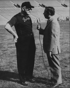 "Gil interviewing George Stanley Halas, Sr. aka Papa Bear and ""Mr. Everything"" of American football. Papa was the founder of the NFL Chicago Bears AND considered one of the co-founders of the National Football League in 1920."