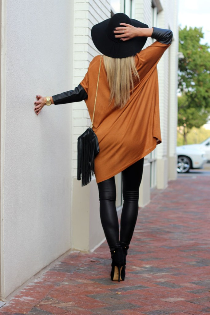 LEATHER WEATHER: LEATHER LEGGINGS OUTFIT.