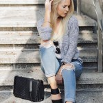 girlfriend jeans, mules