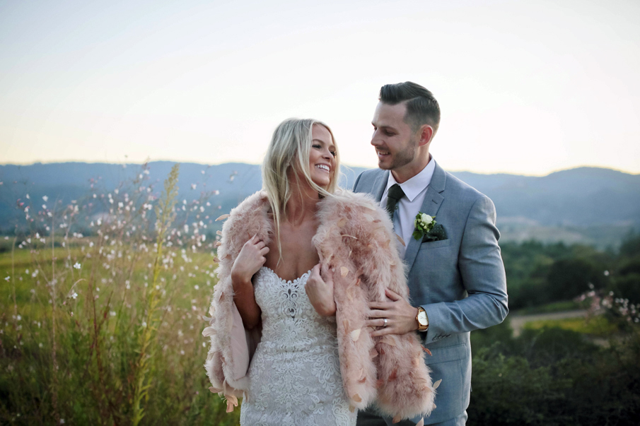 wine country vineyard wedding pictures