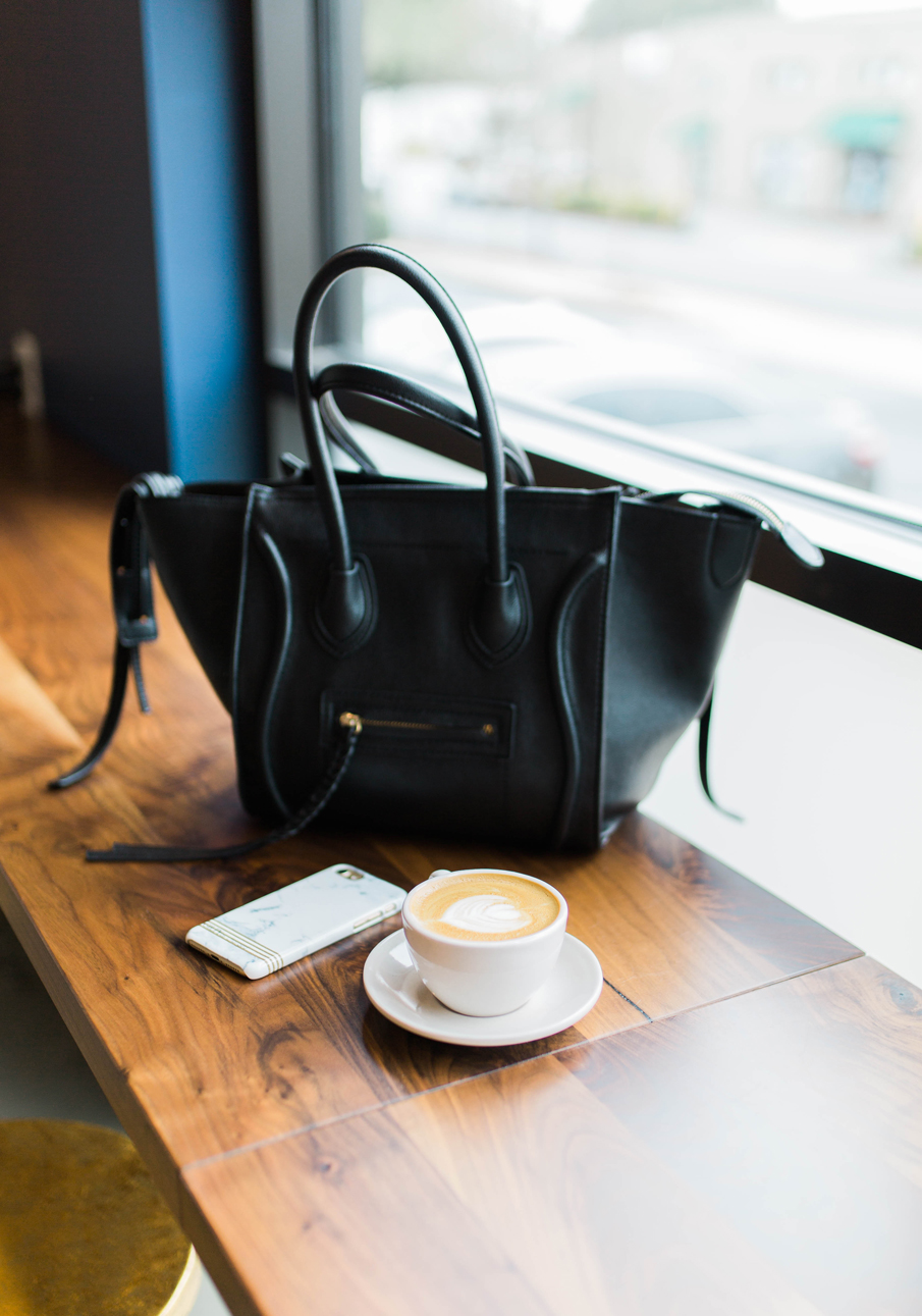 bag and coffee
