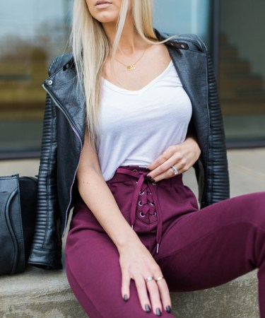 HOW TO WEAR: LACE-UP JOGGERS OUTFIT.