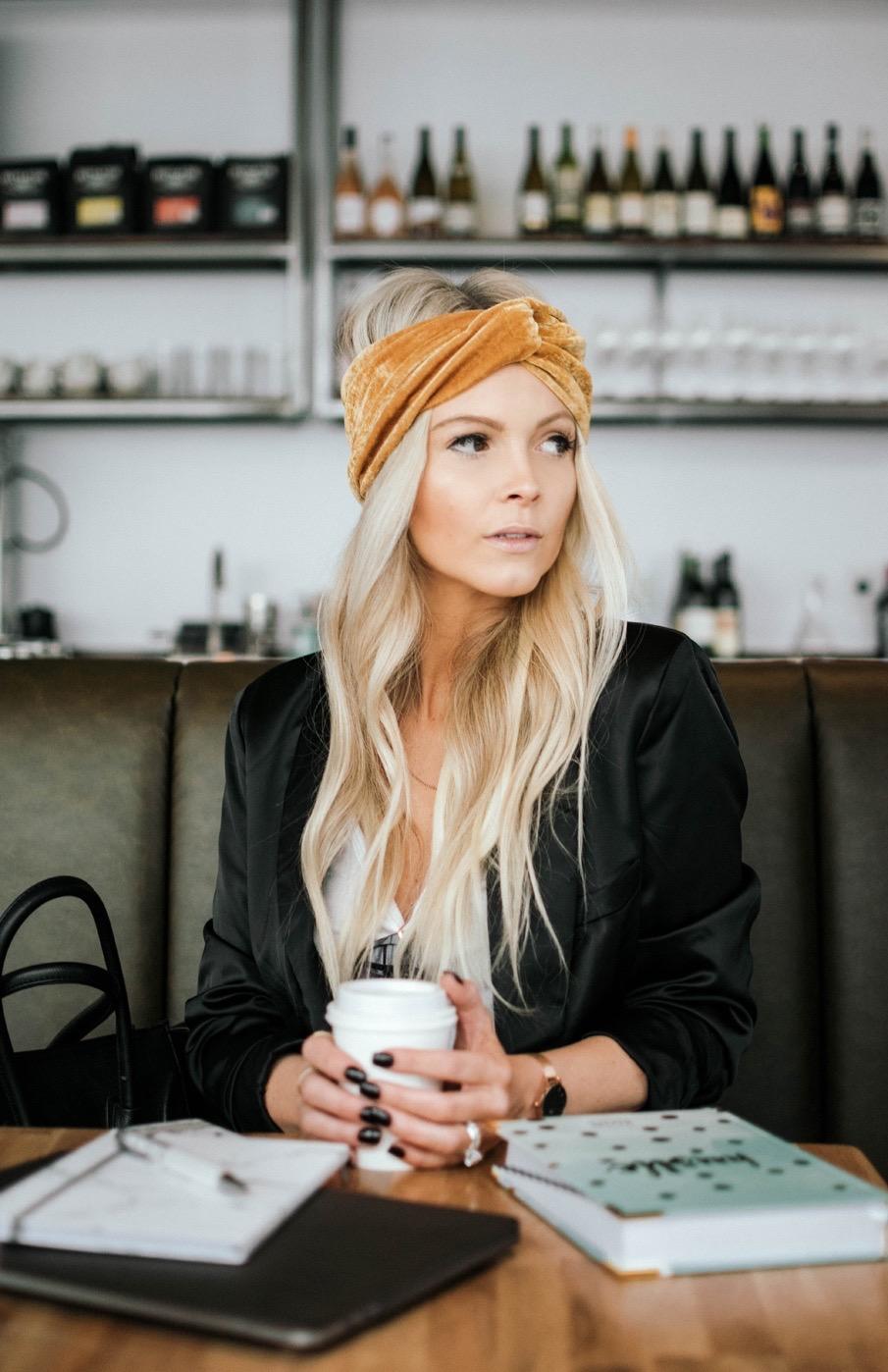 gold turban headband