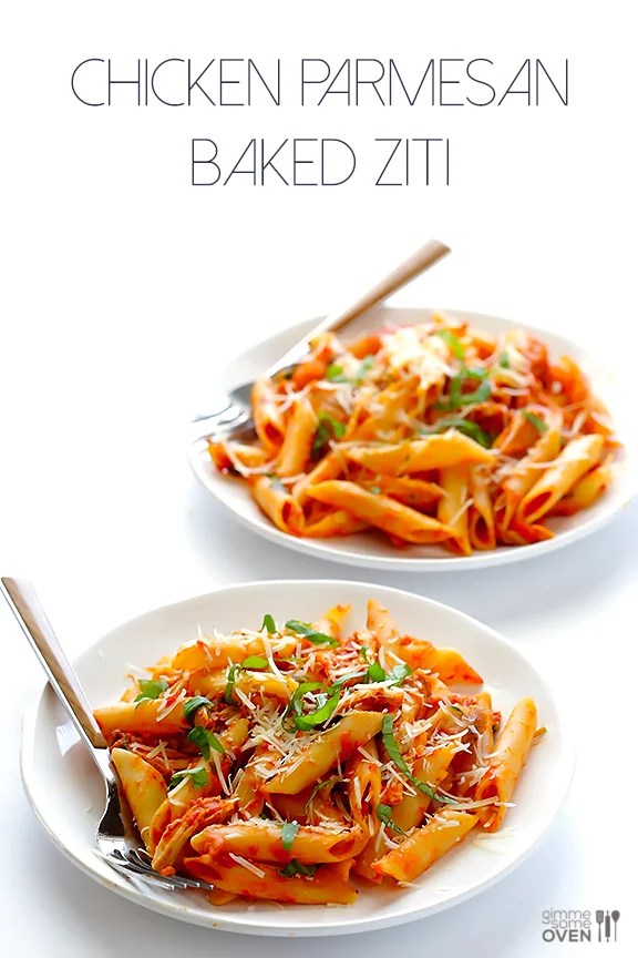 chicken parmesan baked ziti all you need are 6 simple ingredients