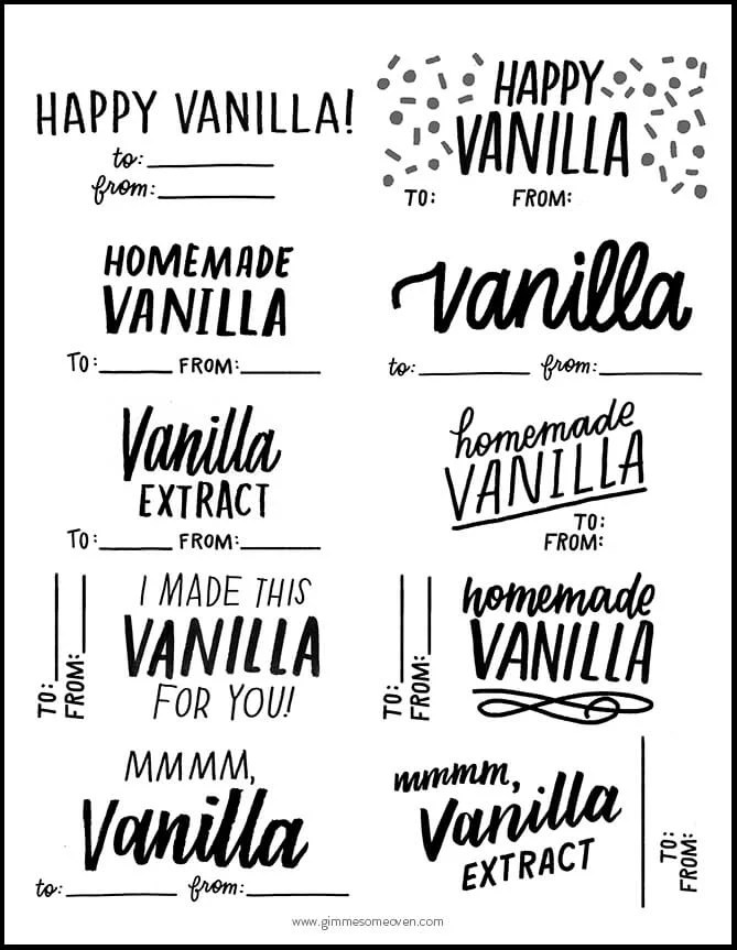 Homemade Vanilla Extract (Plus FREE Printable Labels